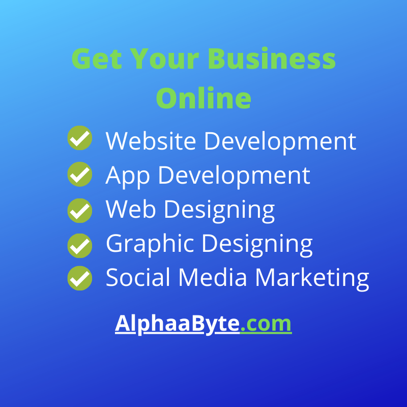 Get Your Business Online - Contact for Web Development, Graphic Designing and Social Media Marketing